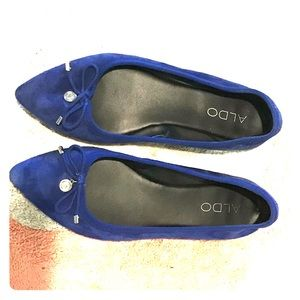 Flat Blue Suede Shoes